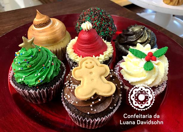 Cupcake de Natal | Confeitaria da Luana
