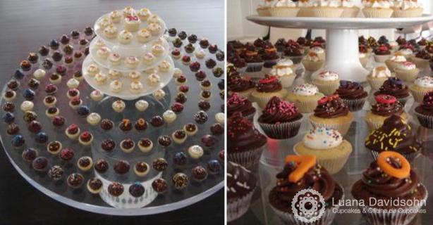 Mesa de Cupcakes Adriana Galisteu | Confeitaria da Luana