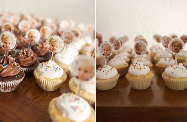 Cupcakes para Bebê Menina