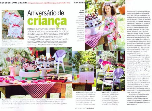 Festa ao ar livre na Casa e Jardim | Confeitaria da Luana
