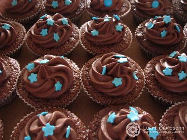 Cupcake para Chá de Bebê Mundo Azul | Confeitaria da Luana
