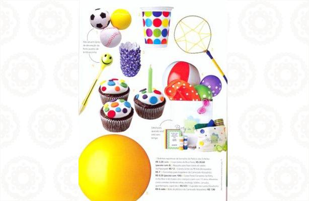 Meus cupcakes na revista Crescer | Confeitaria da Luana