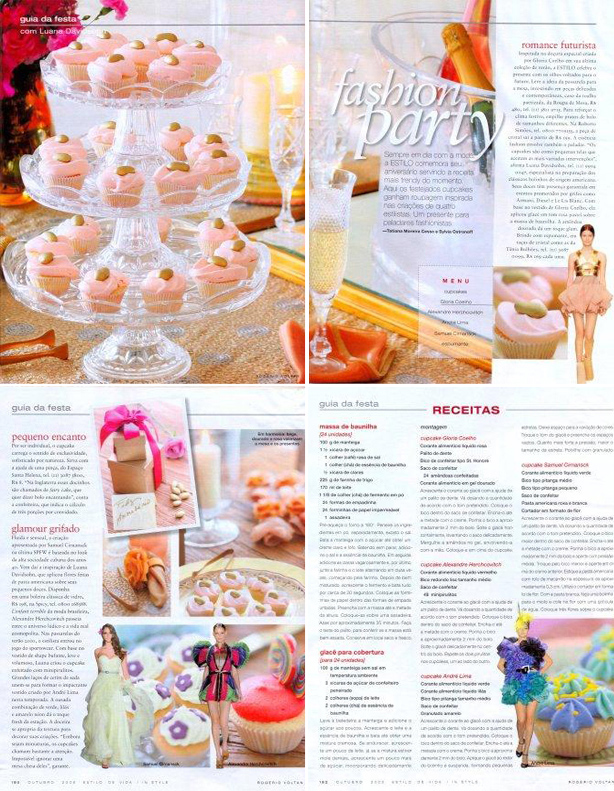 Fashion Party na Revista Estilo | Confeitaria da Luana
