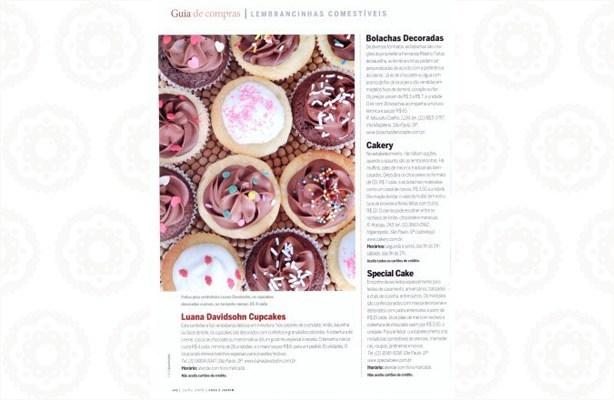Confeitaria da Luana na revista Casa e Jardim | Confeitaria da Luana
