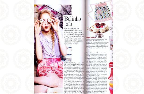 Cupcakes na Vogue Outubro 2009 | Confeitaria da Luana