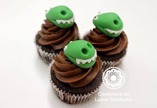 Cupcake Dinossauro | Confeitaria da Luana