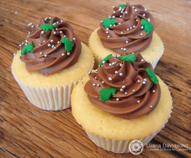 Cupcake Árvore de Natal | Confeitaria da Luana