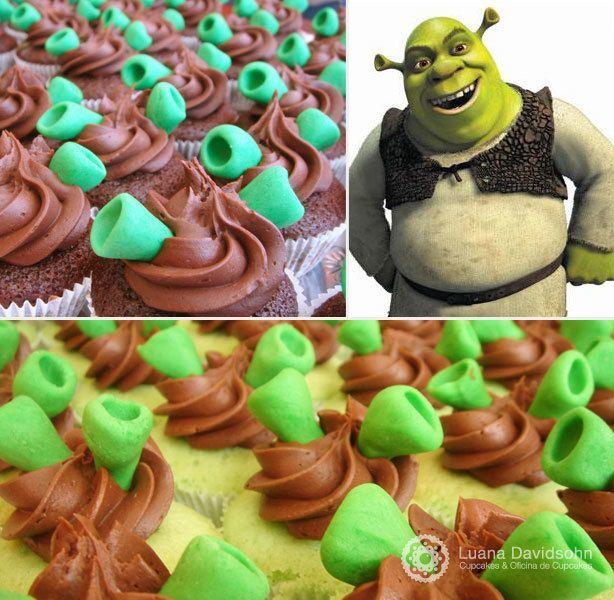 Cupcakes do Shrek | Confeitaria da Luana