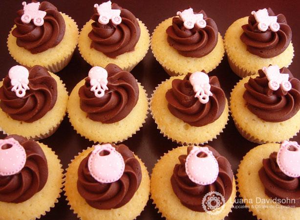 Cupcake para Chá de bebê de menina | Confeitaria da Luana