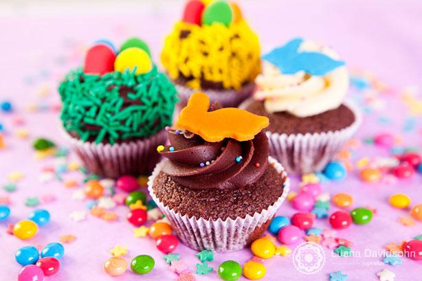 Cupcakes de Páscoa Coloridos | Confeitaria da Luana