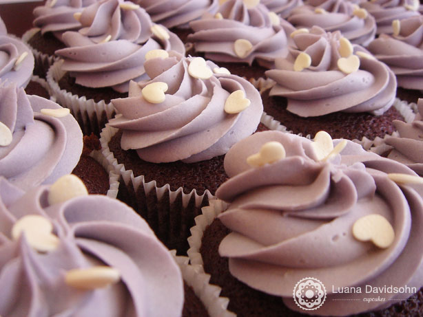 Cupcake para Casamento Lilás e branco | Confeitaria da Luana