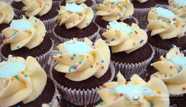 Cupcake de Chá de bebê para menino | Confeitaria da Luana