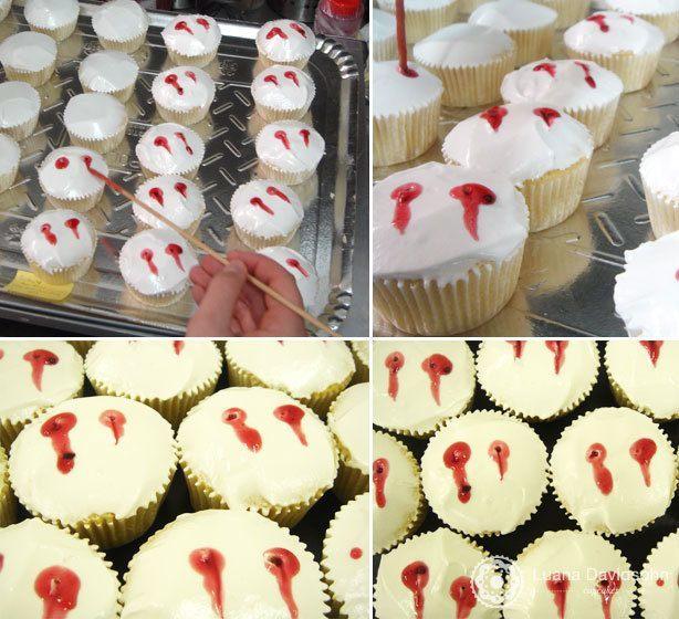Cupcake de Vampiro para Jornalistas | Confeitaria da Luana