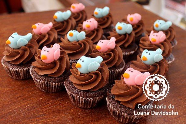 Cupcake Chá Revelação | Confeitaria da Luana