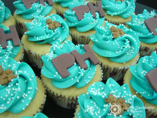 Cupcake para Chá de Bebê com Ursinhos | Confeitaria da Luana