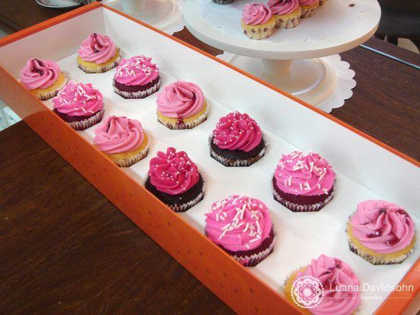 Cupcakes cor-de-rosa | Confeitaria da Luana