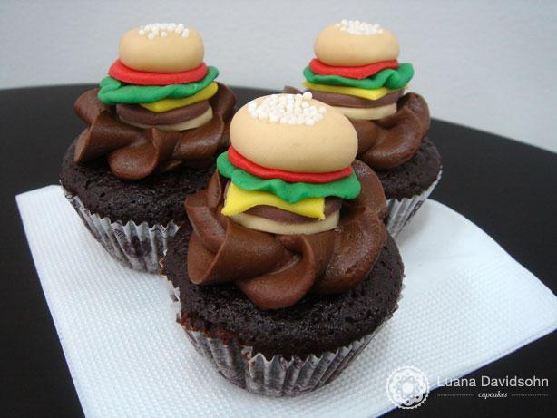 Cupcake Fast Food | Confeitaria da Luana