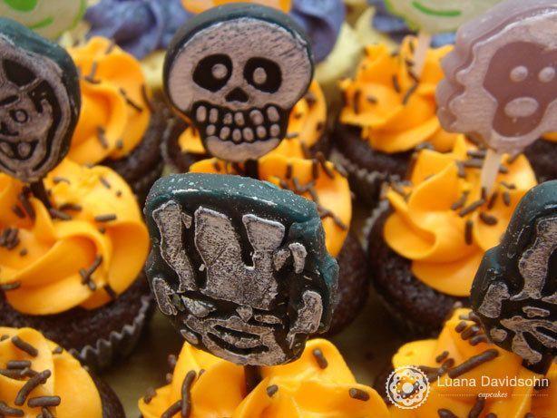 Cupcake de Halloween no Cabeleireiro | Confeitaria da Luana