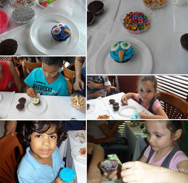 Oficina de Cupcakes Filhos dos Funcionários | Confeitaria da Luana