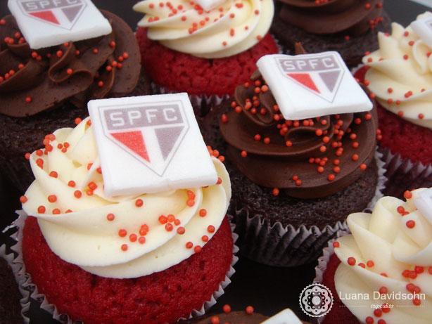 Cupcake do São Paulo | Confeitaria da Luana