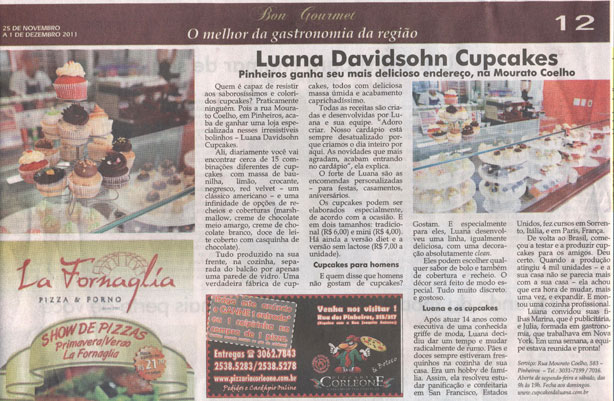 Gazeta de Pinheiros | Confeitaria da Luana