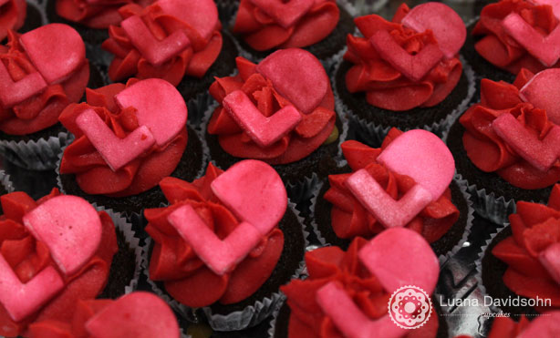 Cupcake para Bodas de Rubi   Confeitaria da Luana