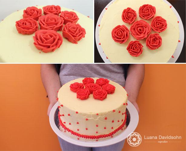 Bolo Decorado: Rosas | Confeitaria da Luana