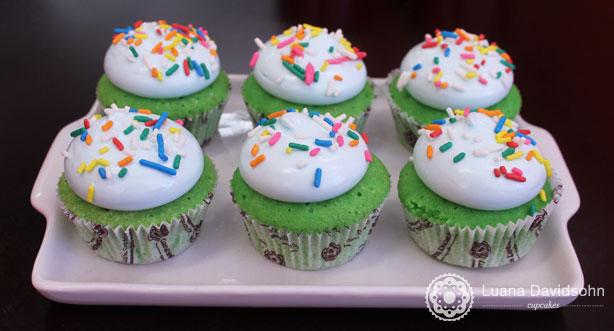 Cupcakes verdes | Confeitaria da Luana