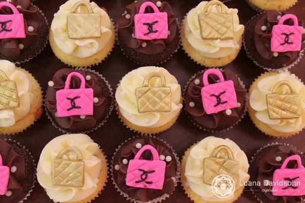 Cupcake com Bolsas de Grife | Confeitaria da Luana