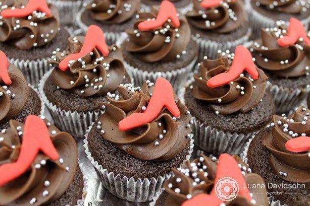 Cupcakes Dia da Mulher Sapatos | Confeitaria da Luana