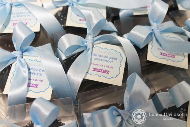 Cupcake para Chá de Bebê do Bernardo e David | Confeitaria da Luana