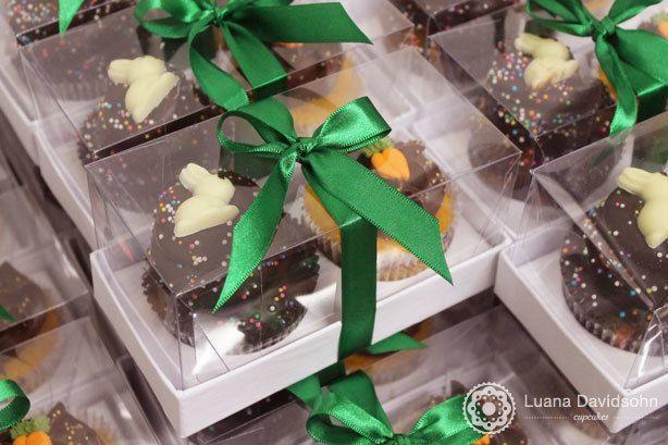 Cupcake de Páscoa Caixa com 2 | Confeitaria da Luana