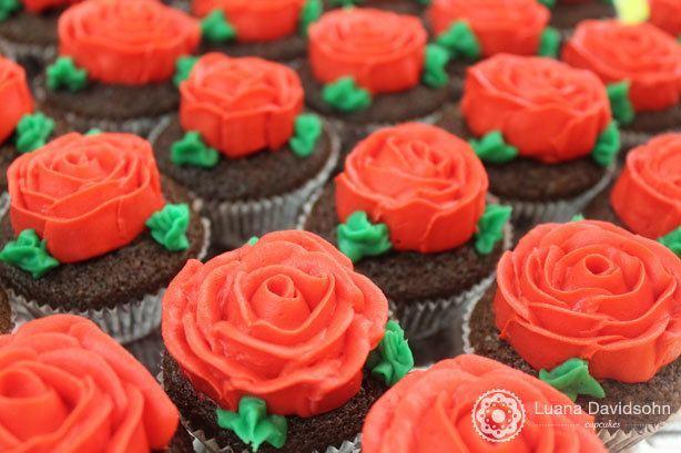 Cupcake Flor Dia das Mães | Confeitaria da Luana