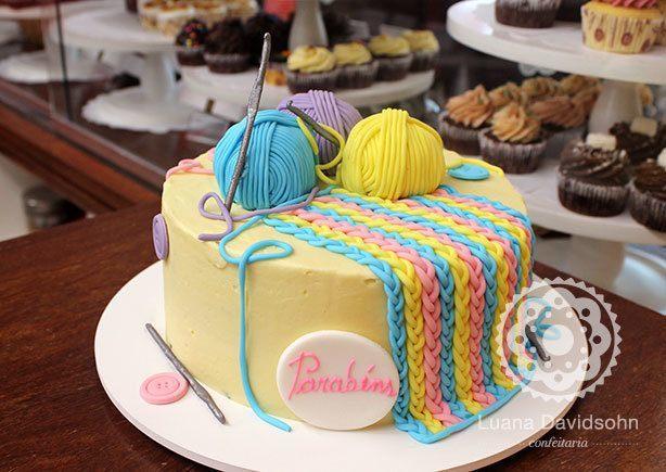 Bolo Cupcake Costura | Confeitaria da Luana