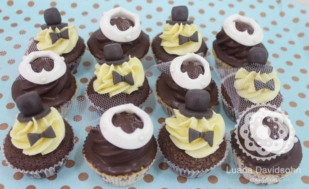 Cupcakes de Noivado Noivinhos e Noivinhas   Confeitaria da Luana