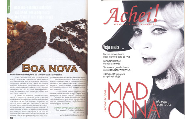 Brownies na Achei na Vila | Confeitaria da Luana