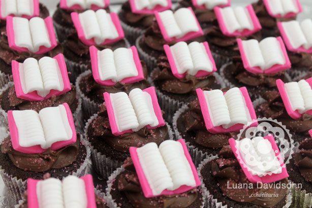 Cupcake Dia do Professor Livros