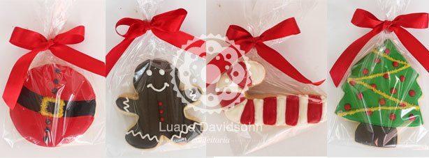 Cookies de Natal Decorados | Confeitaria da Luana