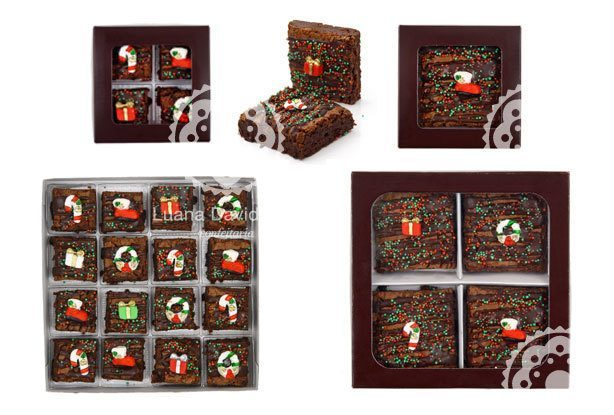 Brownies de Natal | Confeitaria da Luana