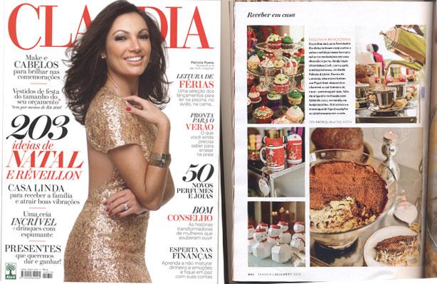 Nossa Confeitaria na Revista Claudia | Confeitaria da Luana