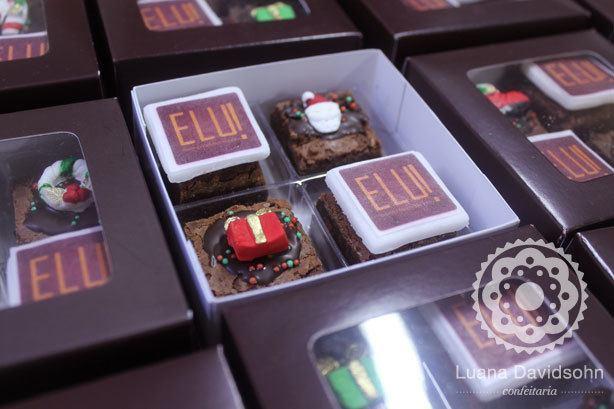 Brownies para Presente Natal | Confeitaria da Luana
