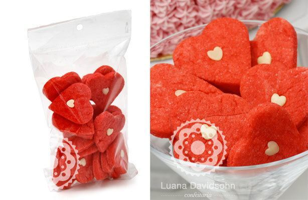 Biscoito de Coração | Confeitaria da Luana