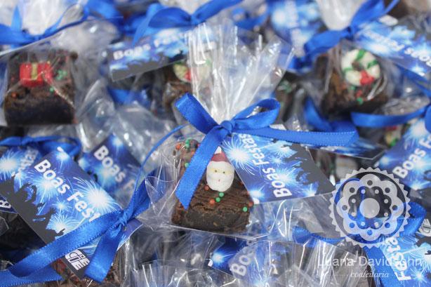 Mini Brownie de Presente | Confeitaria da Luana