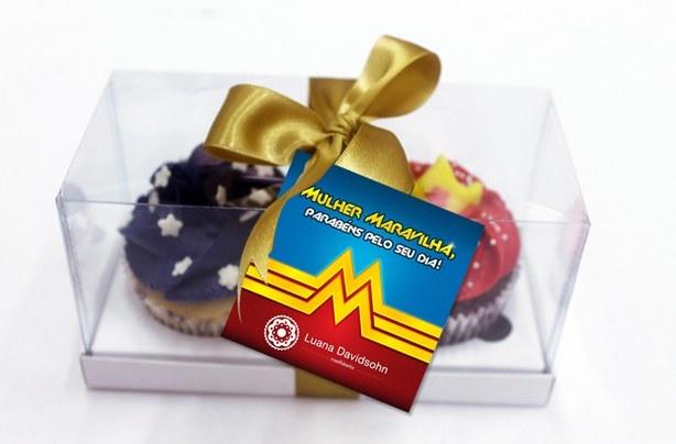 Cupcake Mulher Maravilha