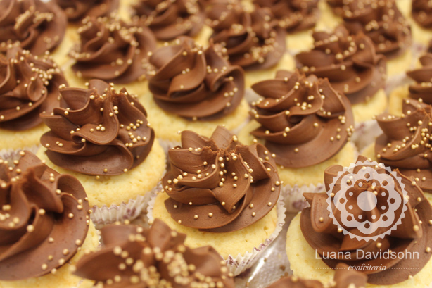 Cupcake para Casamento Chocolate | Confeitaria da Luana