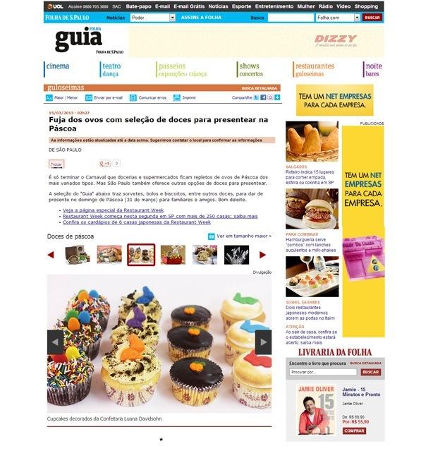 Confeitaria da Luana | Guia da Folha | Confeitaria da Luana