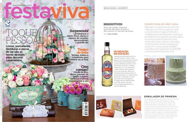 Bolos na revista Festa Viva | Confeitaria da Luana