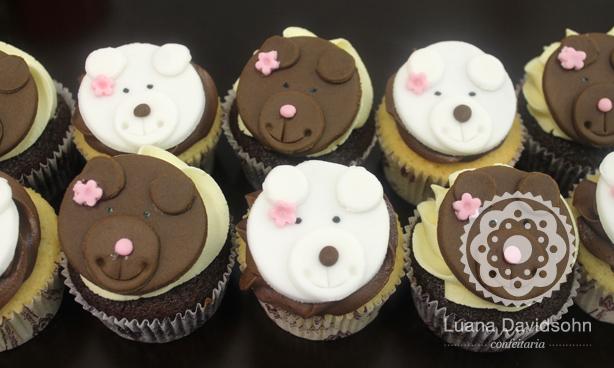 Cupcake com ursinhos | Confeitaria da Luana
