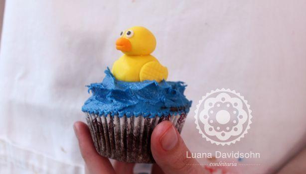 Cupcake Patinho de Borracha | Confeitaria da Luana