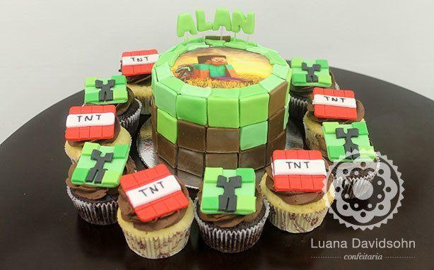Bolo Minecraft | Confeitaria da Luana